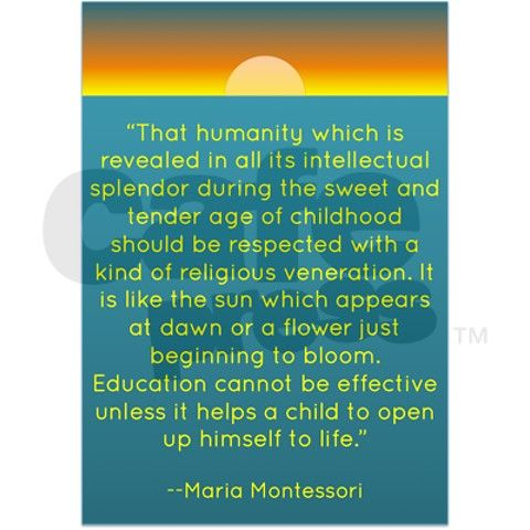 Education cannot be effective unless it helps a child... Maria Montessori. #teacher #education #quote
