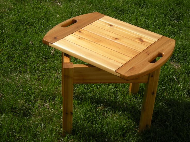 Cedar Serving Tray Table