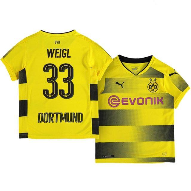 Kids Borussia Dortmund Home Kit 17-18 weigl