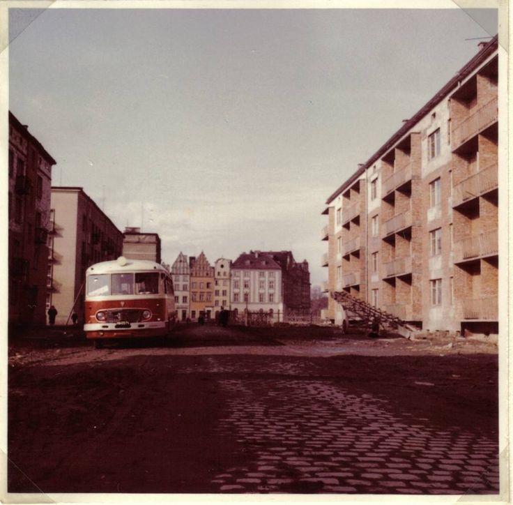 Nysa (Poland) - 1950s/1960s - ulica Wery Kostrzewy obecna Celna widok od strony ul. Prudnickiej do Rynku