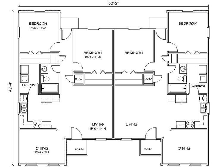 8 best duplex images on pinterest duplex plans for Up and down duplex plans