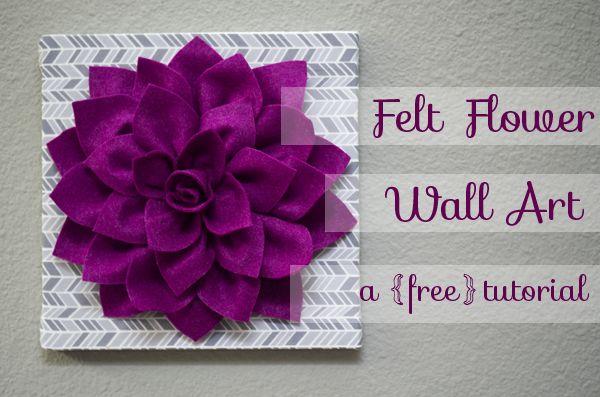 Felt Dahlia Flower Wall Art Tutorial