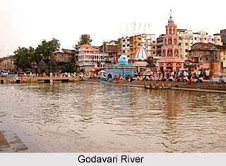 Sagrado río Godavari. Nashik.