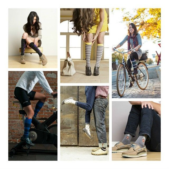 Fall in love with Vim & Vigr compression socks. You'll love these for working out or lounging around. The graduated compression helps to relieve the feeling of tired, achy legs to keep you comfortably on your feet all day and night. Shop now: www.brightlifego.com