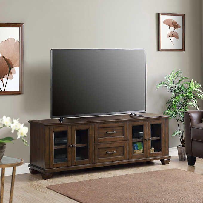 Pauli 72 Inch 3 In 1 Tv Console Bayside Furnishings Furnishings Adjustable Shelving
