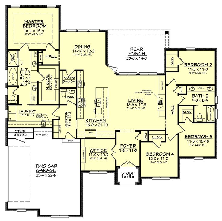 1000 Ideas About 4 Bedroom House On Pinterest 4 Bedroom