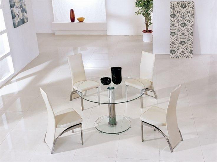 Die besten 25+ Round glass kitchen table Ideen auf Pinterest - runder esstisch design ideen