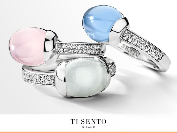 These are the fashion colours of the spring season. The TI SENTO design team used these lovely colours in multiple pieces of jewellery in the newest collection. Which one is your favorite; Serenity, Rose Quartz or Aqua Green?