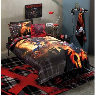 Crusty Demons Inferno Quilt Cover Set Single by Designers Choice