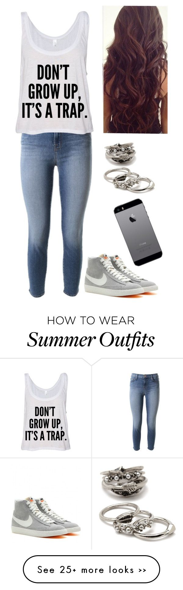 """""""Untitled #591"""" by lauryn-benge on Polyvore featuring J Brand, NIKE and Forever 21"""