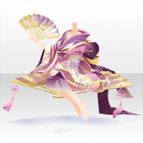 上半身/インナー 花扇に座す藤姫神A桃