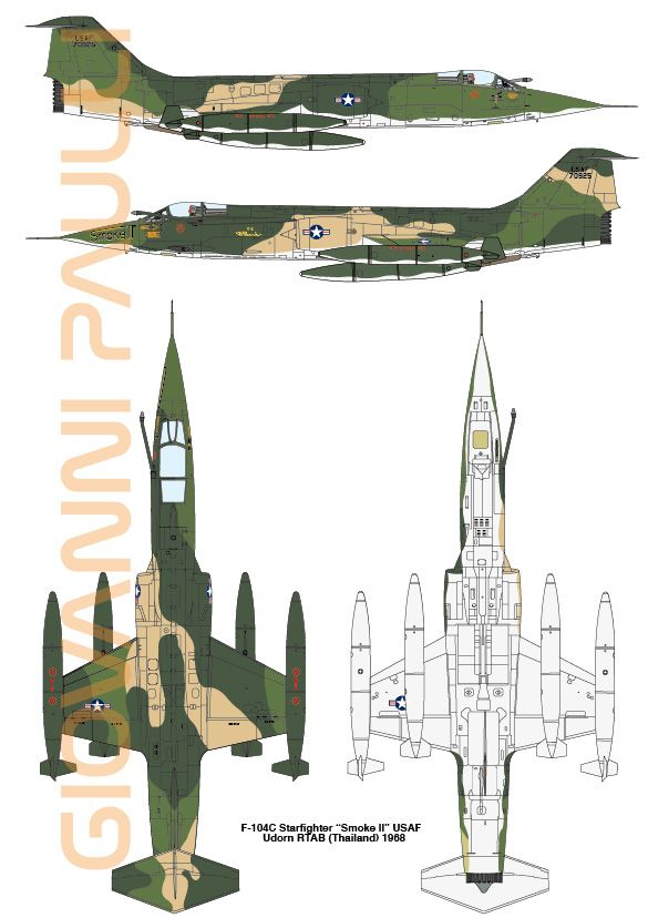 F-104C Vietnam War profile