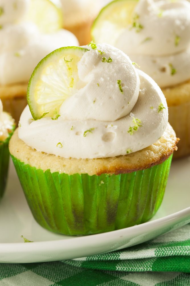 Flourless Key Lime Cupcakes In The Airfryer. From RecipeThis.com
