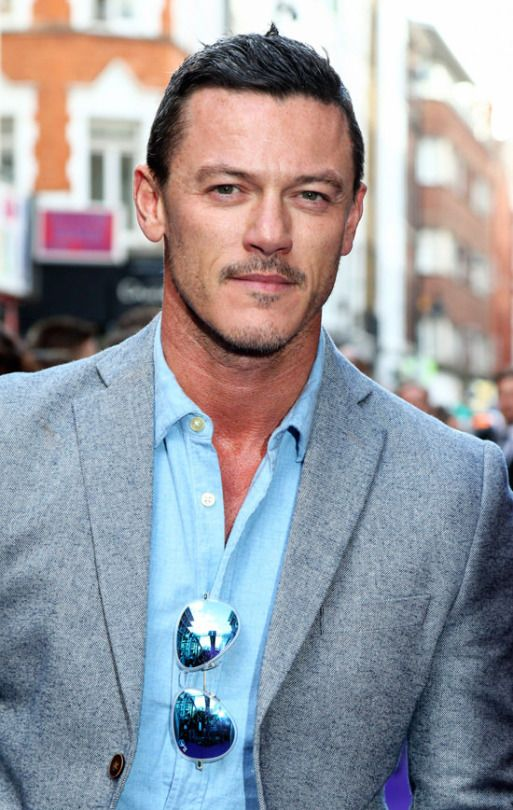 """Luke Evans attends the premiere of Disney's New Musical """"Aladdin"""" at the Prince Edward Theatre in London, England, June 15, 2016."""