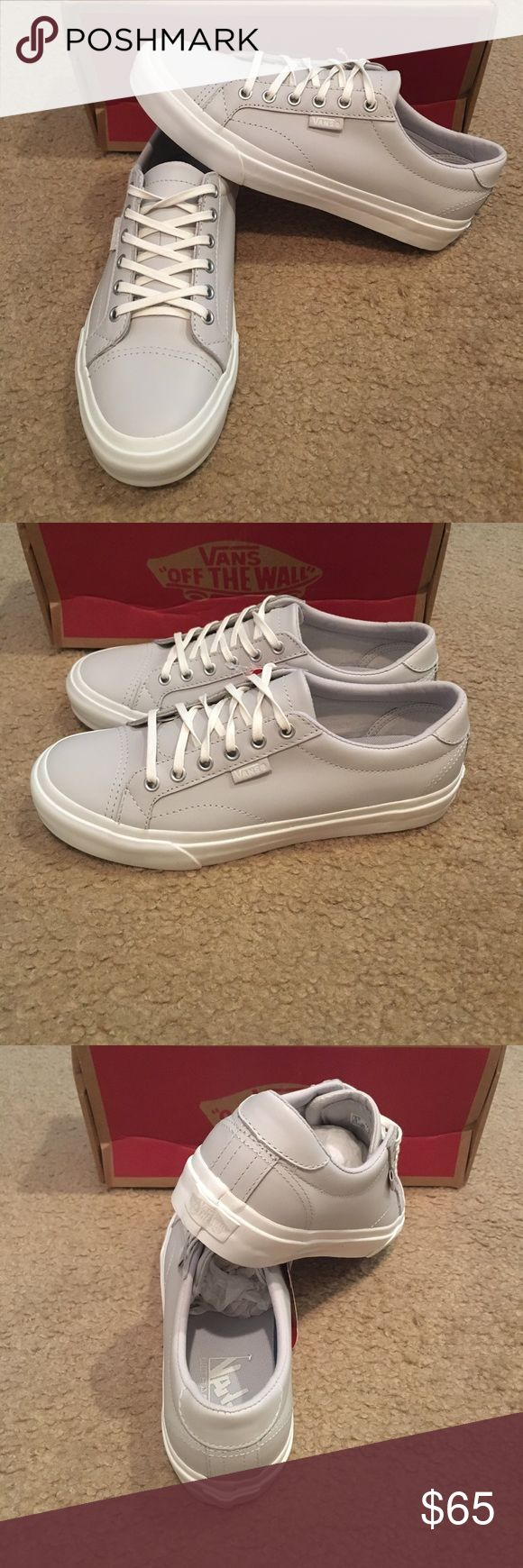 Leather court dx vans nwt