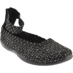 @Overstock - This shoe has a hand woven stretch upper with an ultra light shock absorbing cushioned EVA outsole. It includes an antibacterial lined insole in combination with a memory foam footbed.http://www.overstock.com/Clothing-Shoes/Womens-Bernie-Mev-Cassidy-Black-Silver/7862724/product.html?CID=214117 $73.95