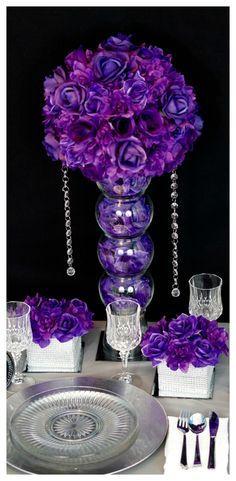 DIY Beautiful Purple Wedding Centerpiece in 3 Easy Steps!