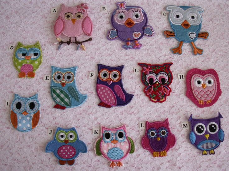 OWL Iron or Sew on Patches,Various Styles,ACCESSORIES,APPAREL,CRAFTS,SCRAPBOOK