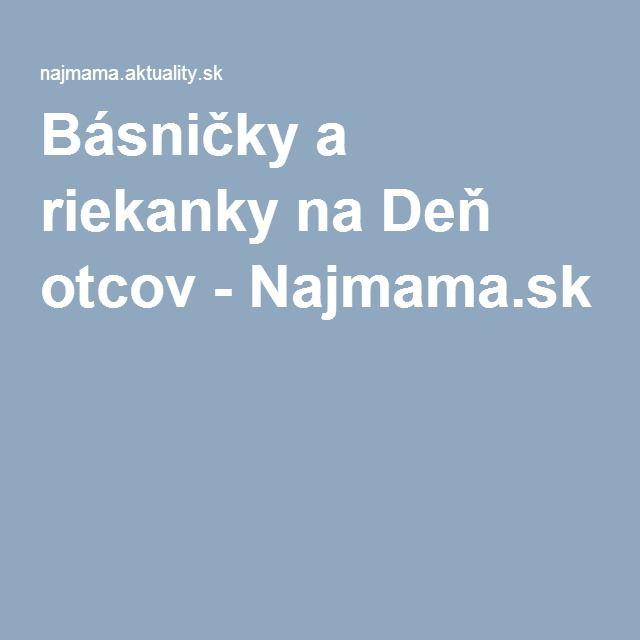 Básničky a riekanky na Deň otcov - Najmama.sk