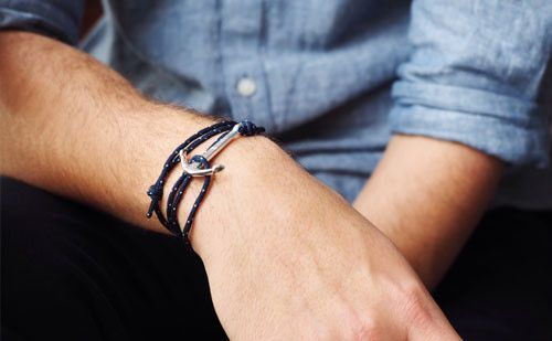 The Conrad looks great with denim... #rope #bracelet #accessories #menswear  Check out this: http://dappervigilante.com/