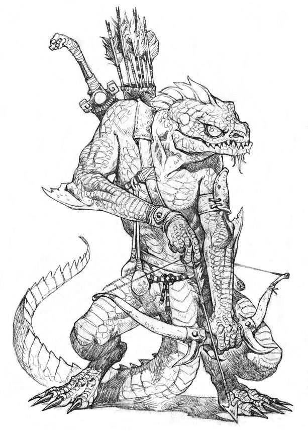 Lizard man troglodyte archer ranger