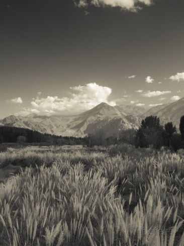 Mendoza Province, Uspallata, Andes Mountains and Rio Mendoza River, Argentina - Fotografiskt tryck av Walter Bibikow på AllPosters.se