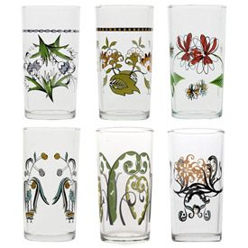 Love this set of glasses: Kitchens, Contemporary Glassware, Fish Eddie, Gifts Ideas, Gift Ideas, Great Gifts, Wine Glasses, Italian Wineglass, Floral Italian