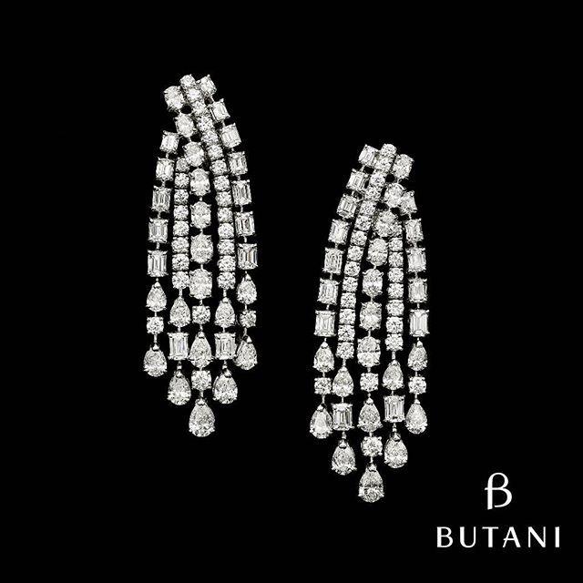 Butani Jewellery #Diamonds #WhiteDiamonds #YellowDiamonds #Earrings…