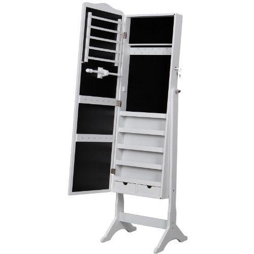 Songmics® 158cm Schmuckschrank Spiegelschrank Standspiegel