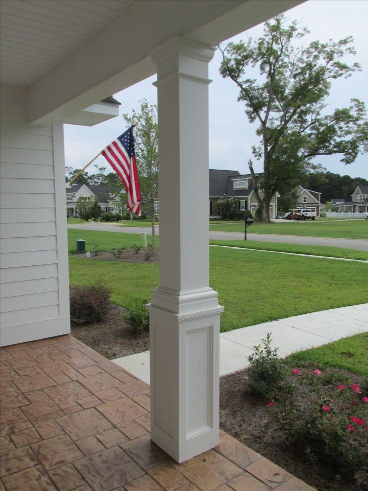 10 best fiberglass aluminum columns and railing images for Fiberglass square columns
