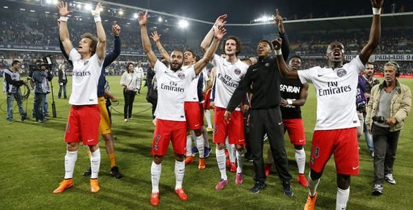 PSG defeated yestarday Montpellier by 2-1 and became the Ligue 1 champion, for the third consecutive time. I'm very proud of this achievement because I love PSG.