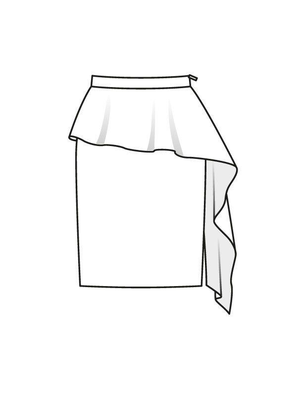 Юбка-карандаш - выкройка № 119 из журнала 8/2015 Burda – выкройки юбок на Burdastyle.ru