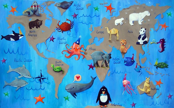 cute world map