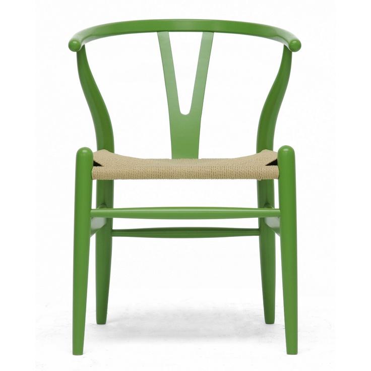 Wholesale Interiors Baxton Studio Mid-Century Modern Wishbone Wood Y Chair
