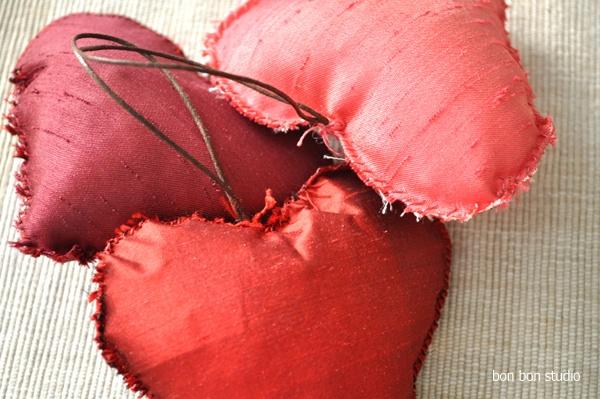 Silk woven heart pillows by Bon Bon Studio! #bonbonstudio