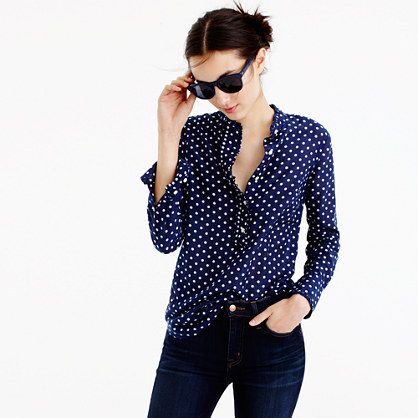 A classic popover + ruffles + polka dots = perfection. Better yet, it's crafted…