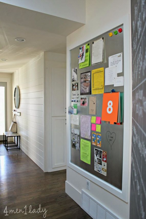 DIY magnetic message board #organized #home #messages