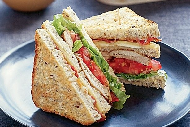 Create a stand-out lunch with these easy chicken club sandwiches.