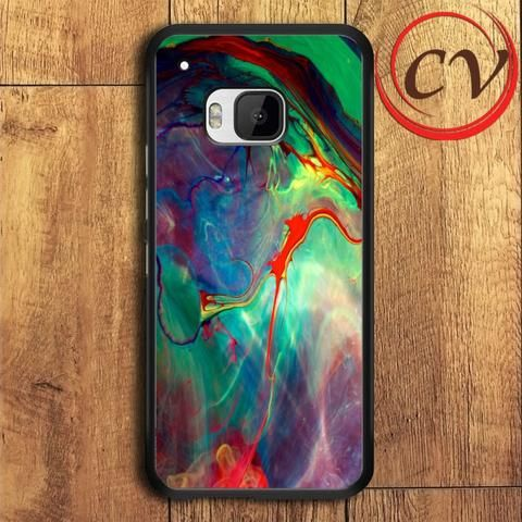 Abstract HTC One M9 Plus Black Case