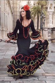 https://fashionflamenco.com Colorful tubing flamenco dress