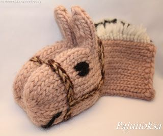 horse mittens. picture only.
