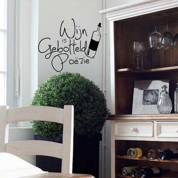 Voorbeeld van de muur stickers: Wijn & Poëzie