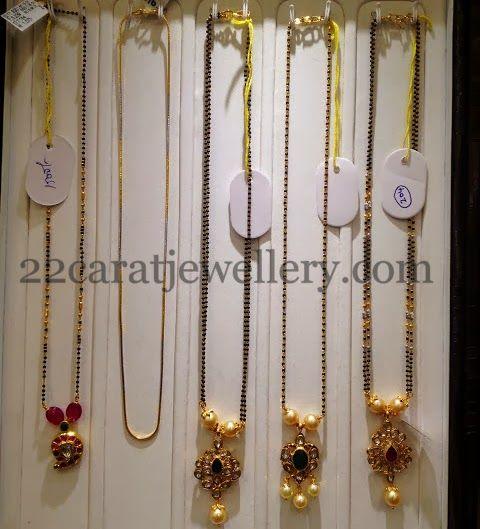 Black Beads Fancy Simple Jewellery | Jewellery Designs