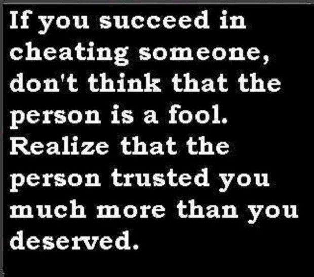 Cheating Quote