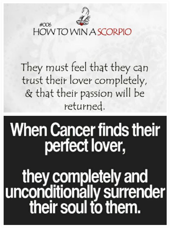 scorpio man and cancer woman relationship compatibility