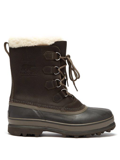2afafda6032 SOREL SOREL - CARIBOU FAUX SHEARLING LINED SNOW BOOTS - MENS - GREY ...