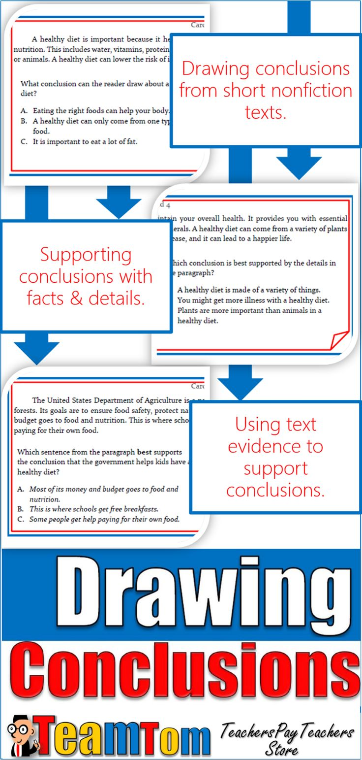 Drawing conclusions for 24 Total Questions! 12 Task Cards with questions that ask students to draw conclusions (make inferences) and support the conclusion with text details and evidence. Wording directly aligned with STAAR Reading Test and other state tests. The 12 task cards are all challenging expository texts each with two questions.