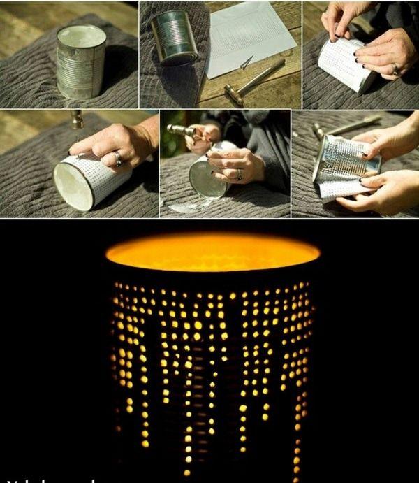 lanternes en boîtes de conserve
