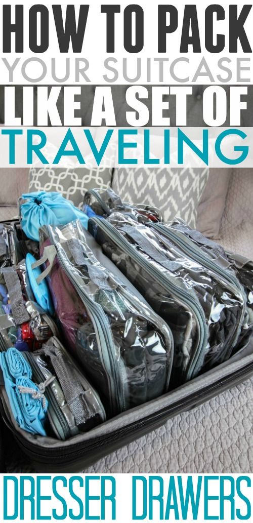 Amazingly organized suitcase! Love this packing method using packing cubes!