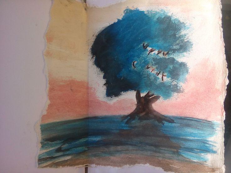 Primeiro desenho com aquarela   By; Joceam Santos